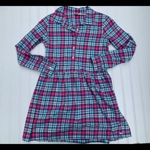 Vineyard Vines Girls Plaid Flannel Shirt Dress  12